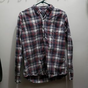 American Eagle Plaid Button Down Shirt